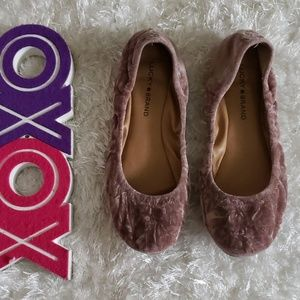 LUCKY BRAND LK-elysia crinkled suede flats